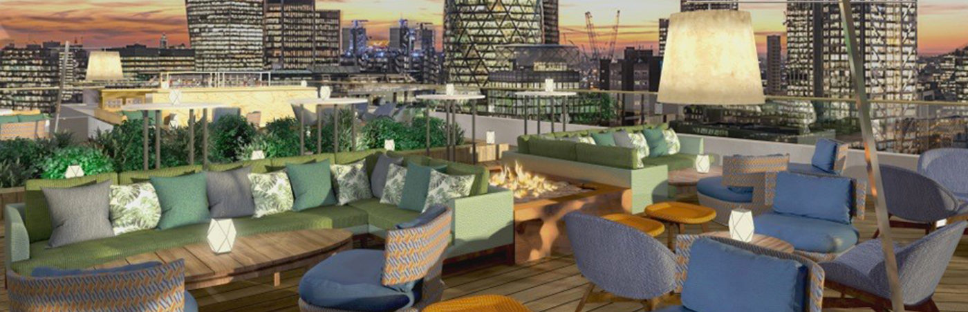 London s latest rooftop restaurant and terrace bar to open for The terrace bar and food