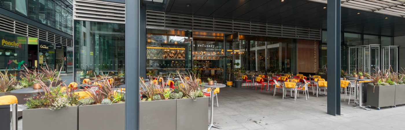 The Refinery New Street Square: Escape The Everyday Hero Image