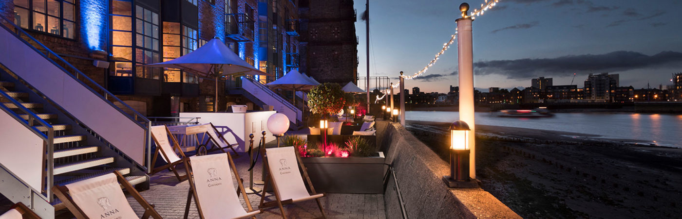 The Buzz Of Barcelona Arrives In Docklands! Introducing The Anna De Codorníu Terrace On The Thames Pop-Up Hero Image
