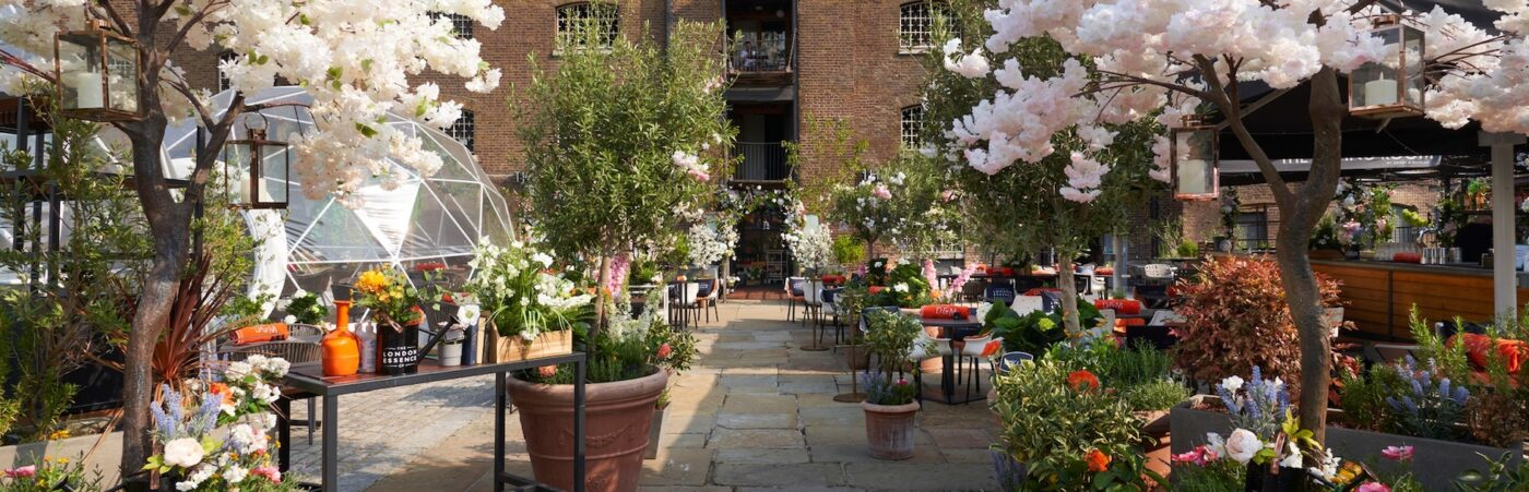 The Essence of Summer Terrace at The Sipping Room Hero Image