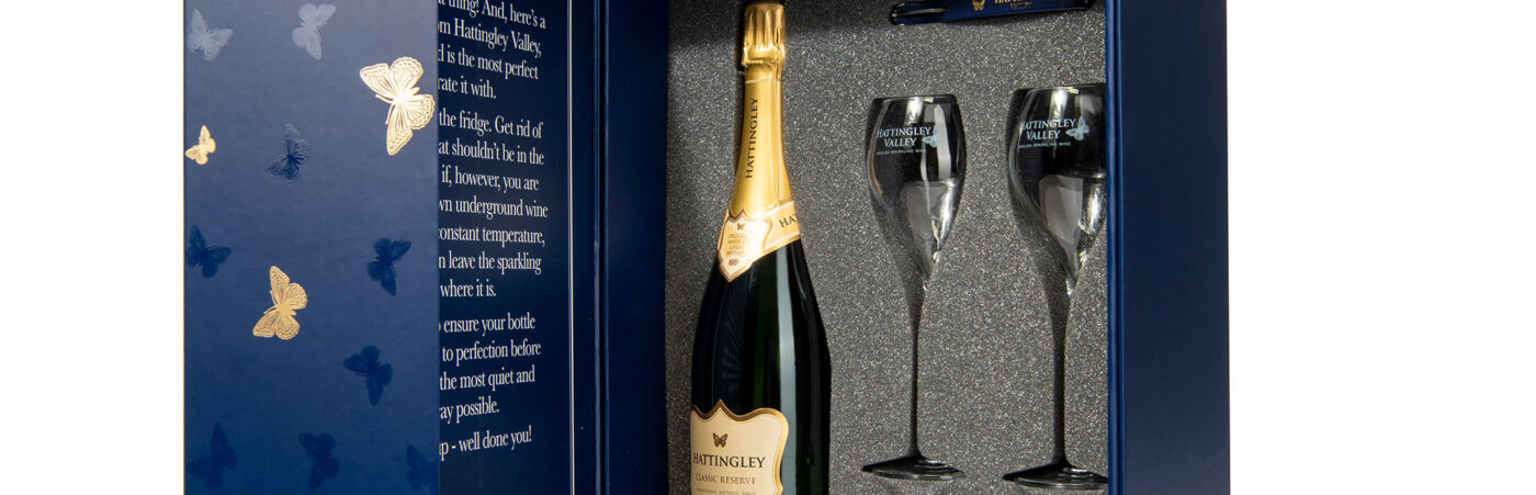 Add a Touch of Sparkle to your Christmas with Hattingley Valley's Luxury English Sparkling Wine Gift Boxes Hero Image